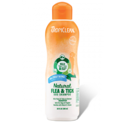 Tropiclean Natural Flea and Tick Dog Shampoo Plus Soothing 592ml