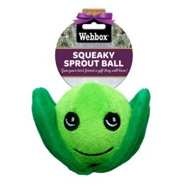 Webbox Christmas Squeaky Sprout Ball Dog Toy
