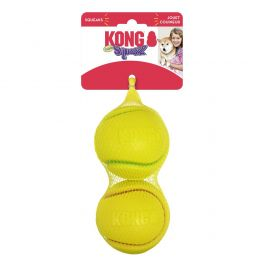 Kong Large Squeezz Tennis Ball Twin Pack Dog Toy
