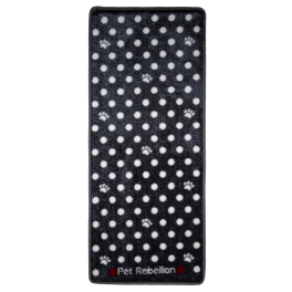 Pet Rebellion Muddy Paws Mat Grey Spots