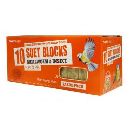 Suet To Go 10 Suet Blocks Mealworm Wild Bird Treats