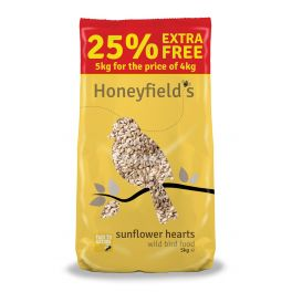Honeyfield's Sunflower Hearts Wild Bird Food 25% Extra Free 5kg
