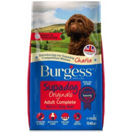 Burgess Supadog Adult Dog Food in Beef 15kg