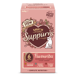 Lily's Kitchen Suppurrs Favourites Stew in Gravy Selection 6x85g