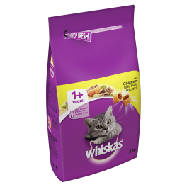 Whiskas Dry Cat Food 1+ Years with Chicken 2kg