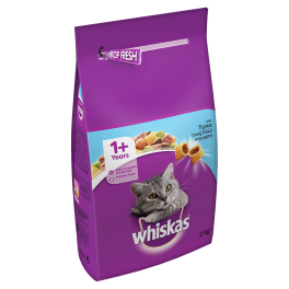 Whiskas Dry Cat Food 1+ Years with Tuna 2kg