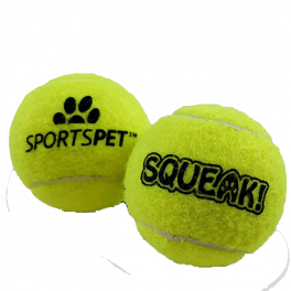 Sportspet Tennis Balls 12 Ball Pack Dog Toy