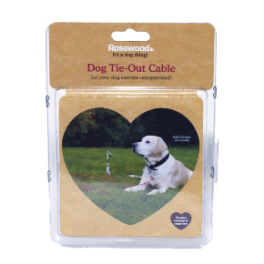 Rosewood Tie-Out Cable for Dogs (3 Lengths Available)