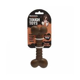 Rosewood Tough Toys Chocolate Nylon Bone Dog Chew Toy Small