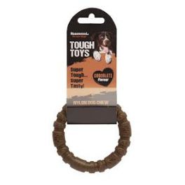 Rosewood Tough Toys Chocolate Nylon Ring Dog Chew Toy Small