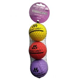 Sportspet Tough Bounce 3 Ball Pack Dog Toy