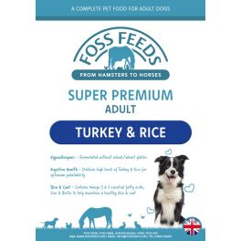 Foss Feeds Sample - Super Premium Turkey with Rice Dog Food 100g