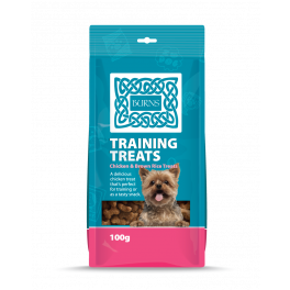 Burns Training Dog Treats Chicken and Brown Rice 100g