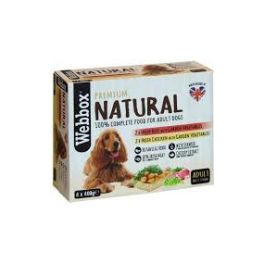 Webbox Premium Natural Adult Dog Food 4x400g Tray Selection