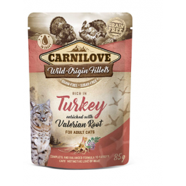 Carnilove Turkey with Valerian Root in Gravy Wet Cat Food Pouch 85g