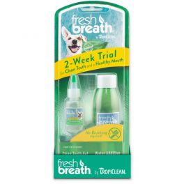Tropiclean Fresh Breath 2 Week Trial Oral Care Kit for Dogs