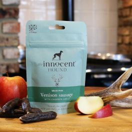 The Innocent Hound Venison Sausage Dog Treat With Apple 70g