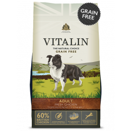 Vitalin Grain Free 60% Fresh Chicken Adult Dog Food 2kg