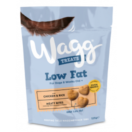 Wagg Low Fat Dog Treats with Chicken & Rice 125g