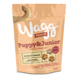 Wagg Puppy & Junior Dog Treats with Chicken & Yoghurt 120g
