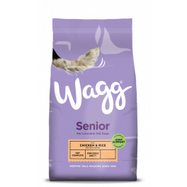 Wagg Complete Senior Dog Food with Chicken & Rice