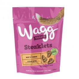 Wagg Steaklets with Beef and Cheese Dog Treats 125g