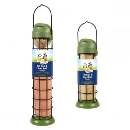 Harrisons Flip Top Fat Ball & Suet Roll Bird Feeder 22cm