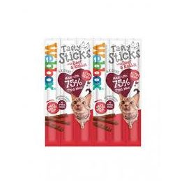 Webbox Tasty Sticks with Beef and Rabbit Cat Treats x 6