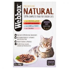 Webbox Premium Natural Senior Cat Food Selection in Jelly Pouches 12x100g