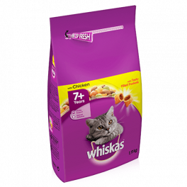 Whiskas Dry Cat Food 7+ Years with Chicken 1.9kg