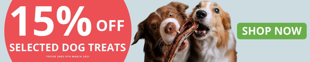 15% off Selected Dog Treats