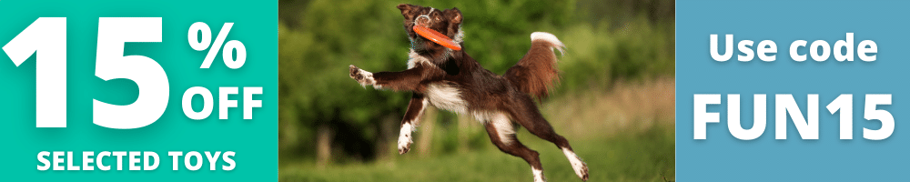 15% off Selected Dog Toys